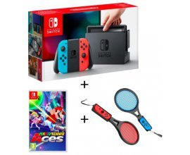 Auchan: Console Nintendo Switch Joy-con Néon + Mario Tennis Aces + Raquettes à 344,99€