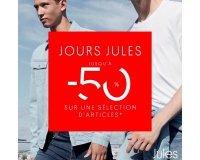 Jules: Jours Jules : jusqu'à - 50% sur une sélection d'articles (chemises, pulls, jeans, vestes...)