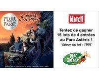 Paris Match: Des lots de 4 entrées pour le Parc Astérix à gagner