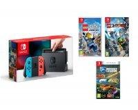 Auchan: Nintendo Switch Joy-Con Néon + Lego Ninjago + Lego City Undercover + Rocket League à 349,99€