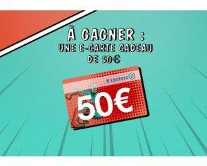 E-Leclerc: Une e-carte cadeau Leclerc de 50€ à gagner