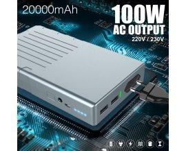 Amazon: Powerbank 20000mAh 220V / 230V AC 100W pour MacBook à 168,98€ au lieu de 199,98€