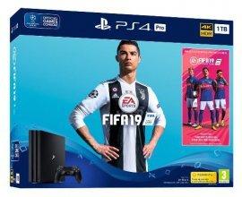 Auchan: [Précommande] Console PS4 Pro Noire 1 To + Fifa 19 - Edition Standard, à 389,9€ au lieu de 439,99€