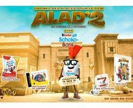 Kinder: Des places de ciné pour le film Alad'2, des Kinder Schoco-Bons, des écouteurs et des DVD à gagner