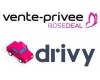 Vente Privée: [Rosedeal] Payez 5€ le bon d'achat Drivy d'une valeur de 15€