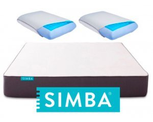 Simba Matelas: 2 oreillers à mémoire de forme avec gel rafraichissant pour l'achat d'un Matelas Hybrid