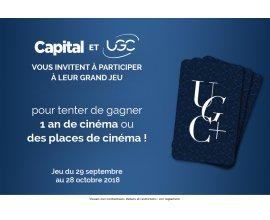 Capital: 1 an de cinéma chargé sur une carte UGC à gagner