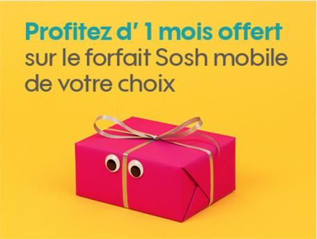 Code promo Sosh : Un mois de forfait mobile offert pour les filleuls