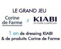 Corine de Farme: 1 an de dressing Kiabi et des produits Corine de Farme à gagner