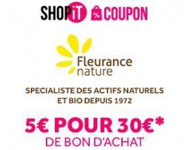 Showroomprive: Payez 5€ le bon d'achat Fleurance Nature de 30€ (valable dès 50€ d'achat)