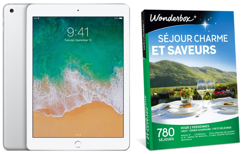 """Code promo La Poste : 1 iPad Wifi 128Go Argent & 10 coffrets Wonderbox """"Séjours charme et saveurs"""" à gagner"""