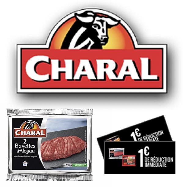 Code promo Charal : Bons de réduction à imprimer Charal : de 1 à 3€ de réduction sur de nombreuses viandes
