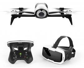 Mistergooddeal: Drone Parrot Bebop 2 Blanc + Skycontroller 2 + Cockpit Glasses à 319,99€