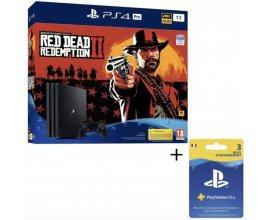 Cdiscount: Pack PS4 Pro 1To Noire + Red Dead Redemption 2 + Abonnement Playstation Plus 3 Mois à 439,99€