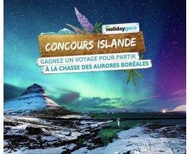 Holiday Guru: Un voyage pour 2 en Islande, à la découverte des Aurores Boréales à gagner