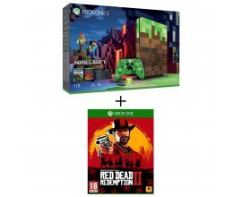 Auchan: Console Xbox One S 1To Limited Edition Minecraft + Red Dead Redemption 2 à 249€