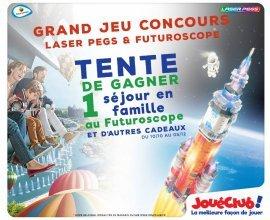JouéClub: 1 séjour pour 4 personnes au Futuroscope, 5x2 entrées pour le parc, 1 playset Laser Peg à gagner