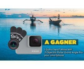 Voyage: 1 GoPro Hero7, 3 Objectifs Pixter Grand Angle Pro à gagner