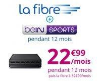 Bouygues Telecom: Abonnement Internet fibre + beIN Sports à 22,99€/mois pendant 1 an