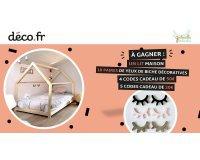 DECO.fr: 1 lit maison, 4 codes cadeau de 50€, 5 codes cadeau de 20€, 10 yeux de biche décoratives à gagner