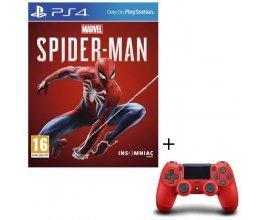 Cdiscount: Pack Jeu PS4 Marvel's Spider-Man + Manette PS4 DualShock 4 Rouge V2 à 74,99€