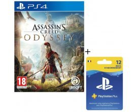 Cdiscount: Pack Jeu PS4 Assassin's Creed Odyssey + Abonnement PlayStation Plus 12 mois à 73,99€