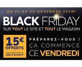 Norauto: 15€ offerts en bons d'achat par tranche de 100€ acheté en ligne ou en magasin pour Black Friday