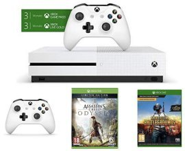 Amazon: Xbox One S 1To + 2e manette + Assassin's Creed Odyssey + PUBG + Gears of War à 225€