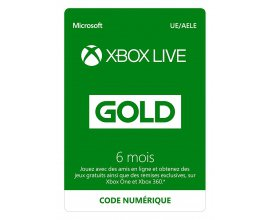 Amazon: Abonnement Xbox Live Gold 6 mois à 19,99€