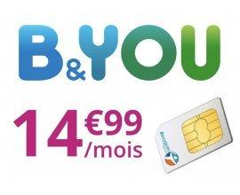 Bouygues Telecom: Forfait mobile illimité + 60Go (dont 6Go utilisables en Europe et dans les DOM à 14,99€/mois