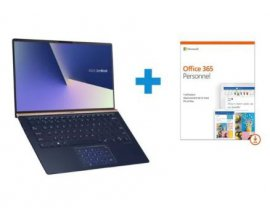 "Rue du Commerce: PC Portable 14"" FHD Asus ZenBook UX433FA-A5045T - Core i5, SSD 256 Go + Office 365 1an à 799,99€"