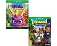 Cdiscount: Pack 2 jeux Xbox One : Spyro Reignited Trilogy + Crash Bandicoot N-SANE Trilogy à 49,99€