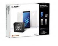 Boulanger: Pack Smartphone Samsung A8 + Coque + Verre trempé + Enceinte JBL Go 2 à 249€ (dont 70 via ODR)