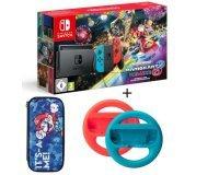 Cdiscount: Pack Console Nintendo Switch Mario Kart 8 Deluxe + 2 Volants + Housse à 314,99€