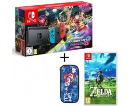 Cdiscount: Pack Console Nintendo Switch Mario Kart 8 Deluxe + The Legend of Zelda + Housse à 359,99€