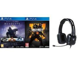 Rakuten: Jeux PS4 Call of Duty Black Ops 4 + Destiny 2 Rénégats + Casque Filaire à 69,99€