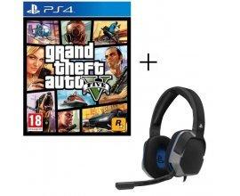 Cdiscount: Jeu PS4 GTA V + Casque Afterglow Level 3 à 39,98€