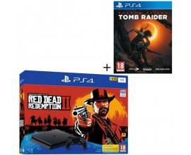 Cdiscount: Pack PS4 1 To Noire + 2 Jeux : Red Dead Redemption 2 + Shadow of the Tomb Raider à 269,99€