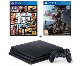 Cdiscount: Pack PS4 Pro 1 To Noire + GTA V + Monster Hunter World à 339,99€