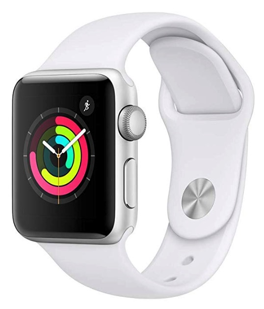 Code promo Amazon : Apple Watch Series 3 en Aluminium Argent de 38 mm avec Bracelet Sport Blanc à 251,99€