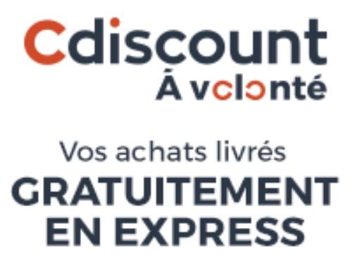 Code promo Cdiscount : 1 an d'abonnement à Cdiscount à volonté à 8€ au lieu de 29€