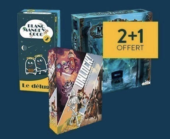 Code promo Cultura : 2 jeux de société achetés = le 3e offert