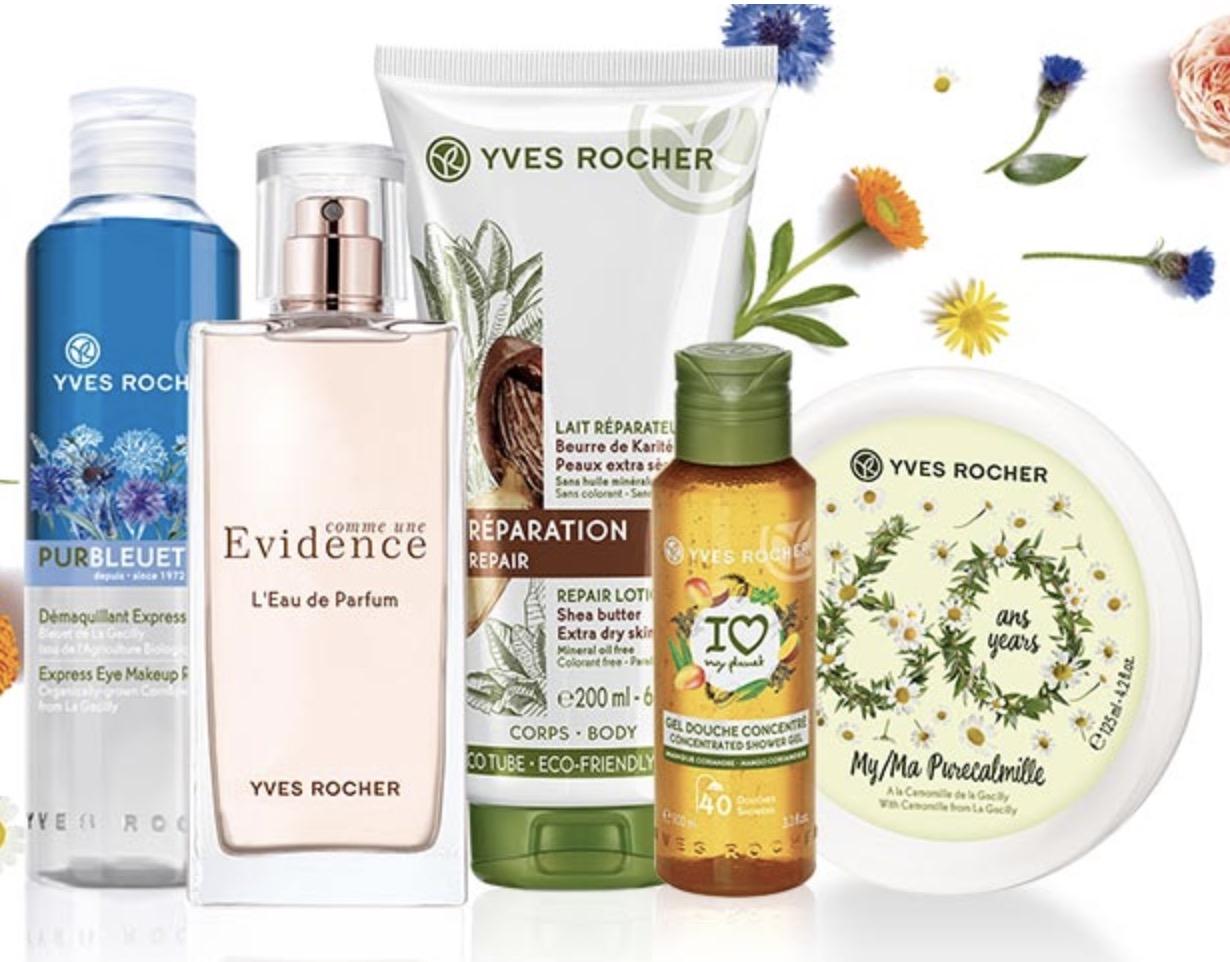 Code promo Yves Rocher : 40% de réduction sur plus de 400 produits de beauté