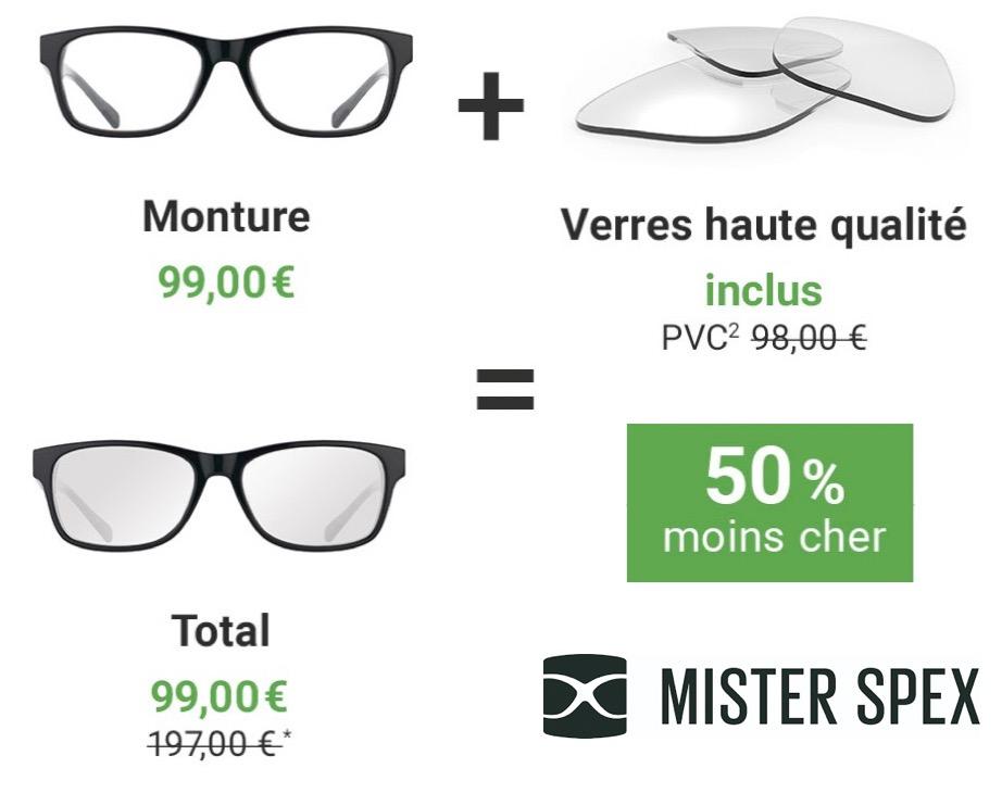 Code promo Mister Spex : 50% de remise sur vos lunettes de vue