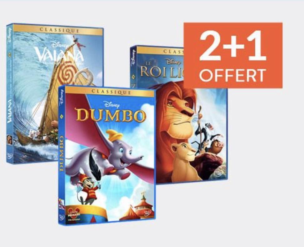 Code promo Cultura : 2 films Disney achetés en DVD ou BluRay = le 3e offert