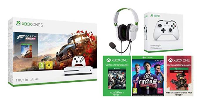 Code promo Amazon : Pack Console Xbox One S 1 To + 3 jeux + 1 manette et 1 casque à 329.99€ au lieu de 499€
