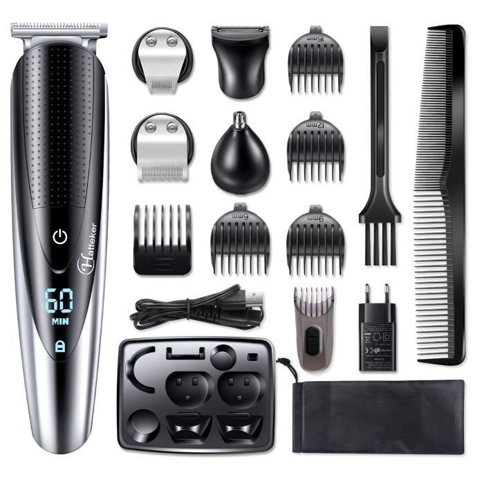 Code promo Cdiscount : HATTEKER Tondeuse Barbe Tondeuse Cheveux Tondeuse Nez-Oreilles Electrique à 32.99€ au lieu de 69.99€