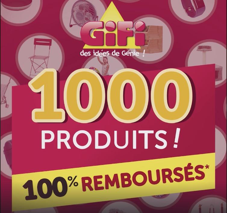 Code promo GiFi : [En magasin] 1000 produits 100% remboursés en 1 bon d'achat