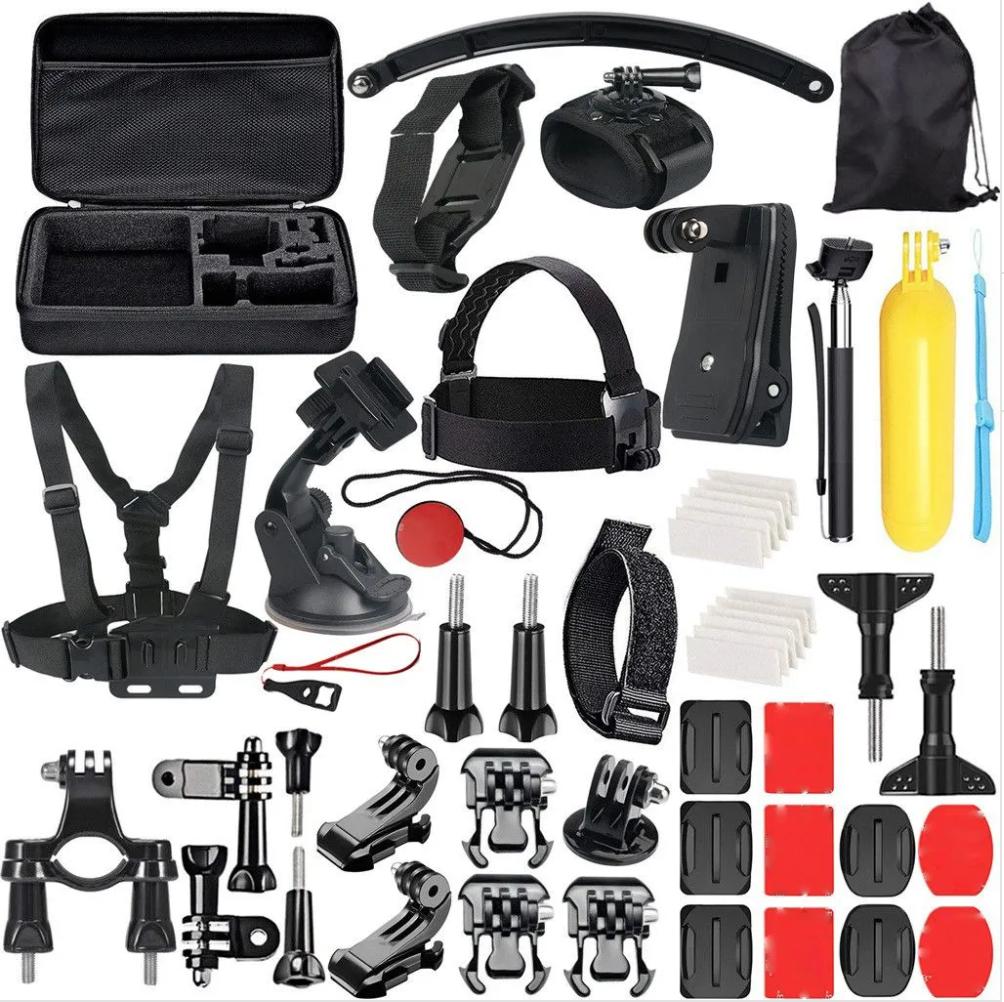 Code promo Rakuten : Accessoire 49-In-1 Kit pour GoPro 7/6/5/4/3 + / 3/2/1 Hero Session 5 / SJ4000 / 5000 à 25.76€