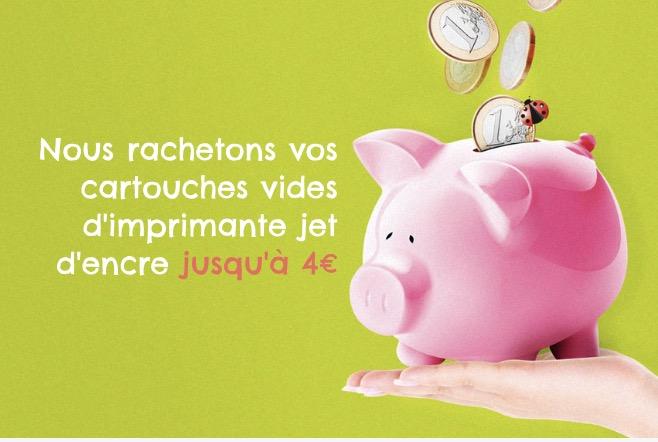 Code promo Cartouche Vide : Recevez de l'argent contre vos cartouches d'imprimante jet d'encre vides
